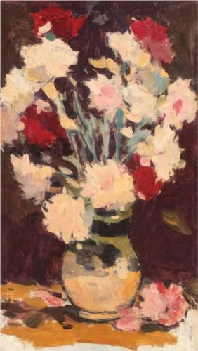 Vase with Carnations - Stefan Luchian