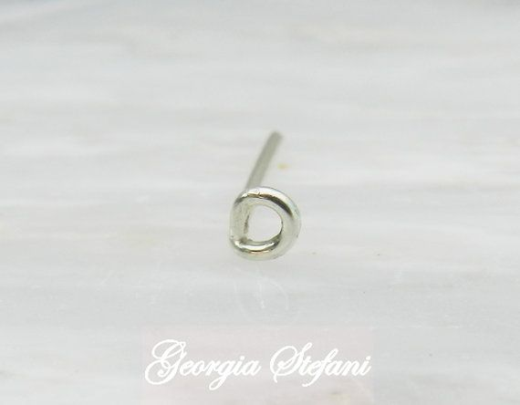 3mm Sterling silver tiny open circle nose earring. Small by GStef, €7.90