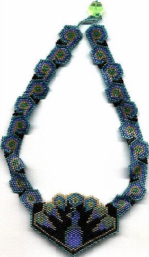 Peacock Beaded Necklace | Flickr - Photo Sharing!