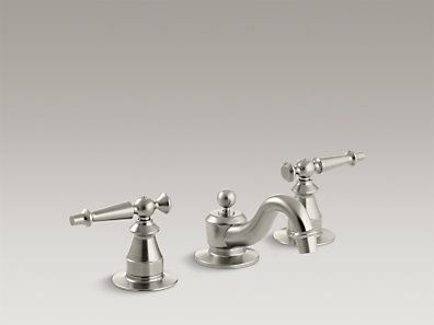 bathroom sink faucets kohler. The ADA-compliant Bathroom Sink Faucet Offers Vintage Style In A Widespread Two-handle Design And WaterSense-certified Low Flow Rate. Faucets Kohler