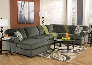 Jessa place pewter left facing chaise sectional category for Chaise 2 places
