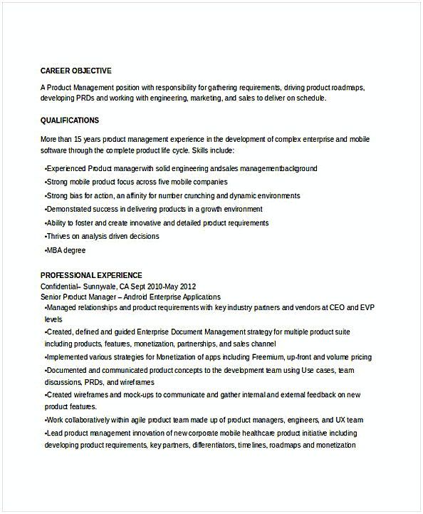 Senior Product Manager Resume 1 Resume For Manager Position Many Of Us Interested In Being Manager If You Are The One We Kindly Suggest You Read This Step