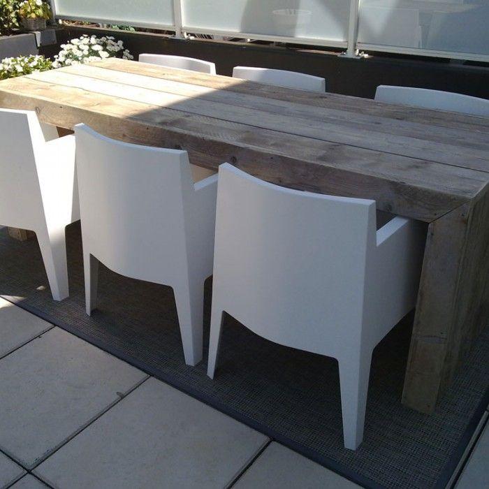 Steigerhouten tafel model Miami