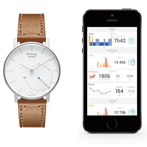 """French designers create """"first ever"""" analogue watch with built-in activity tracker."""