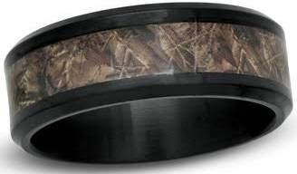 mens gun barrel wedding ring