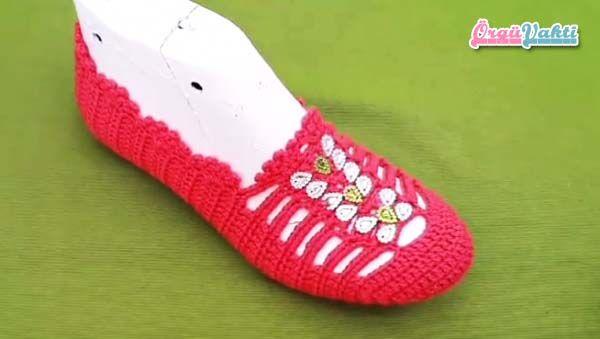 Ponponlu Makosen Ayakkabı Patik Modeli Yapımı Türkçe Anlatımlı Videolu