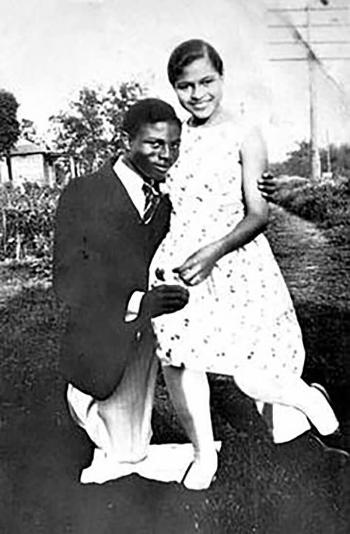 A Young Rosa Parks And Her Husband, After She Moved North She Stayed With Relatives On Deacon St. In SW Detroit. George Murry, I remember Visger Rd. In S. W. Detroit, poster photo.