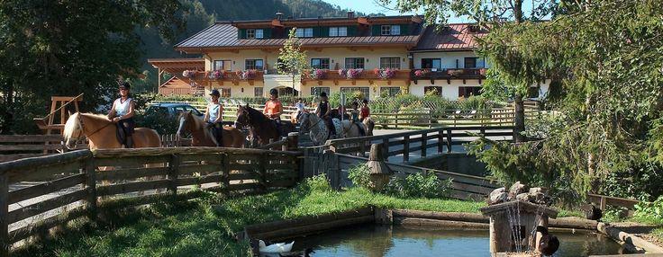 Reiten für Anfänger und Fortgeschrittene bietet das Hotel Gut Kramerhof mit eigenem Reitstall.