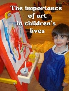 The importance of art in children's lives. Read about it and get tips on encouraging creative development on the My Custom Kids Books blog