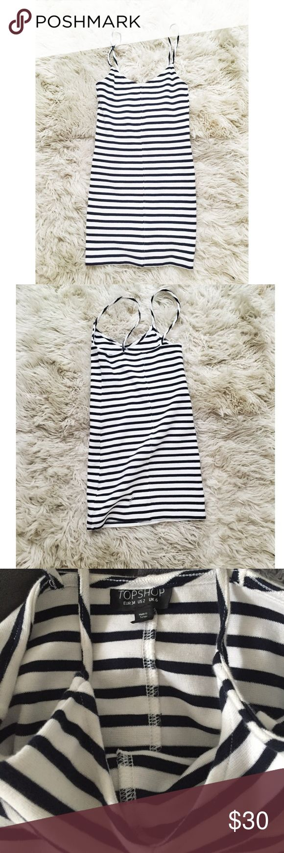 TOPSHOP striped bodycon dress Thick material. Very flattering. Dress has stretch. EUR size 2 which is XS in US. Topshop Dresses Mini