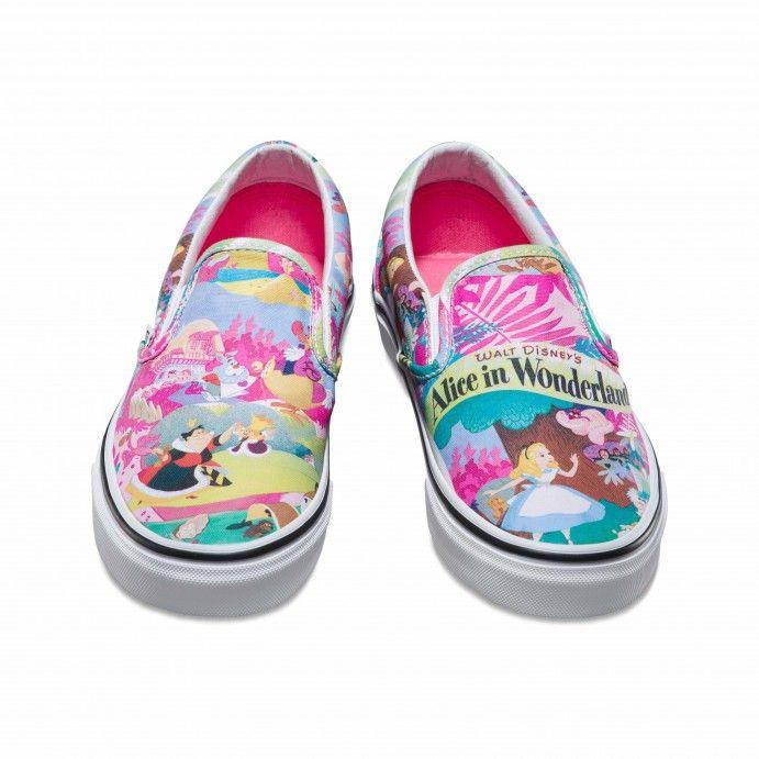 #lieberDschinni Vans Disney Classic Slip-On Schuhe (Disney) Wonderland/pink - Vans Deutschland Offizielle Online Shop