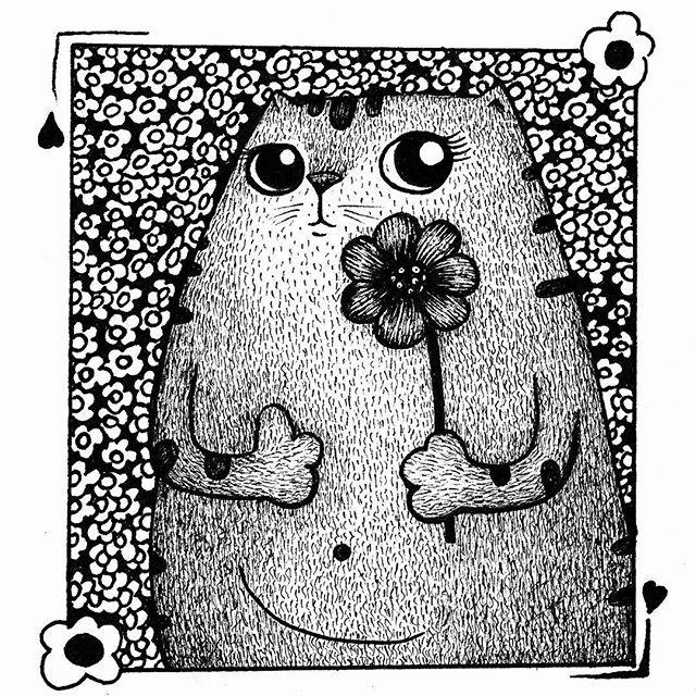 . . . . #illustration #gatos #animales #drawing #draw #catsofinstagram #instaart #graphic #practice #catsofinstagram #mininos #cats #catslover #sketchbook #garabato #doodles #artist #instaart #handdraw #love #amordegatos #modernart #skycat #pendrawing #instaartworks #instaartist #artoftheday #instaillustration #artcollector #artcollective #artofinstagram #amoryamistad2017