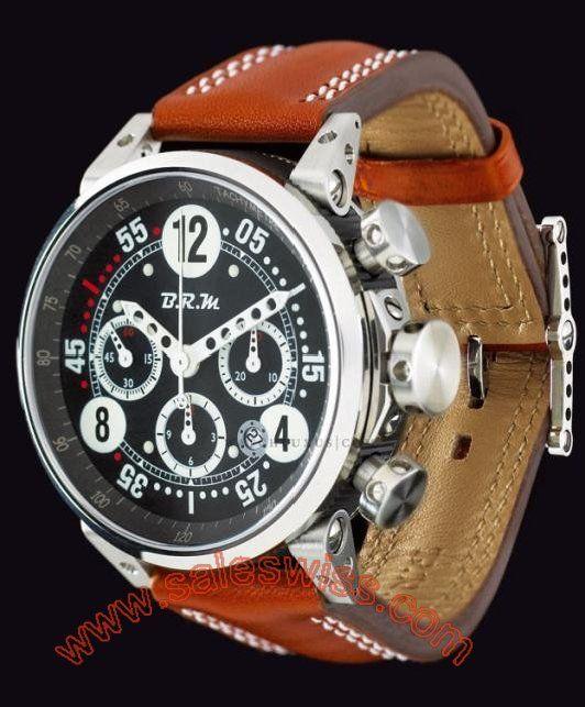 B.R.M. G45 T White Hands BRM-005 Mens Watch G45 T AB ,Mens,B.R.M