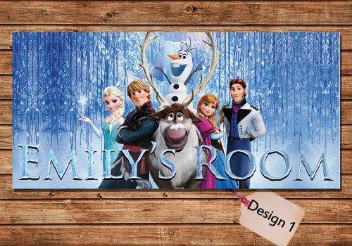Disney's Frozen kids door sign Kids door plaque, kids door signs, bedroom, via UDzine