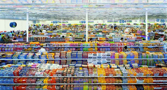 99 Cent II, Diptychon, by Andreas Gursky (2001). Sold for $3.3 million.