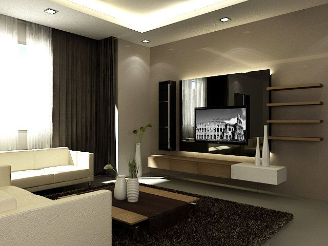 Amazing feature wall ideas living room tv design ideas tv - Home decorating ideas living room walls ...