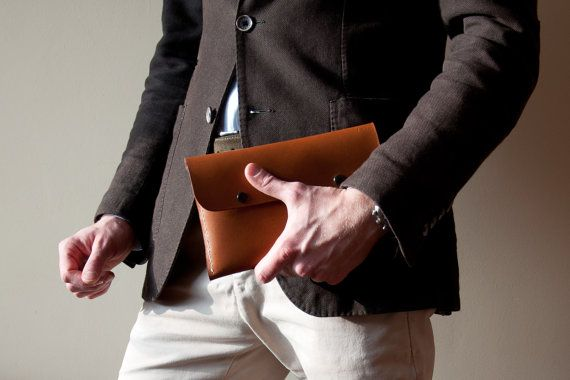 Men's Business Clutch Handbag in Beech Nut, Organizer Handbag, Briefcase Wallet, Passport Wallet, Men Handbag, Leather Clutch, Wrist Bag,Bag