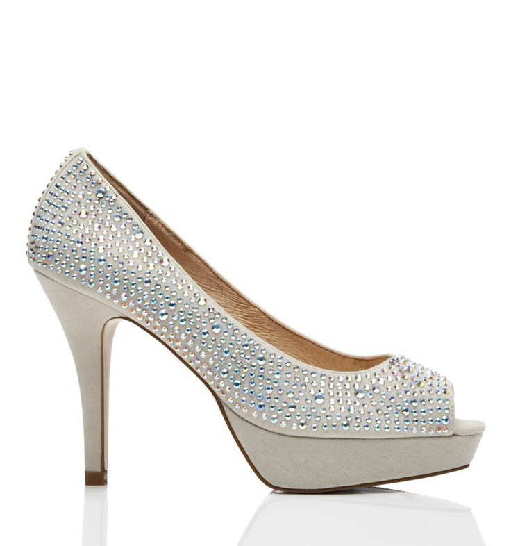 Forever New misty diamante platform pumps