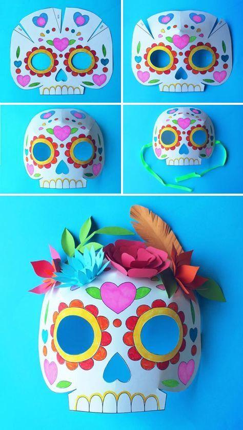 Máscara o antifaz para el Día de los Muertos