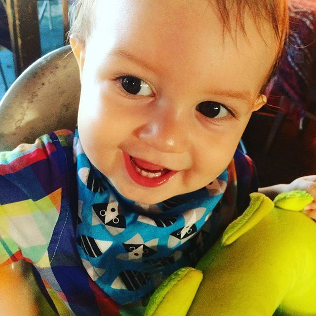 || TBT || My gorgeous boy... A throw back to our first Valentines together.  poor daddy couldn't compete with this! Makes our heart melt.  Featuring our Levi & Evelyn Blue Raccoon bandana bib. Purchase yours now at http://bit.ly/LEbibs  #leviandevelynlove #leviandevelyn #bandanabib #babyboy #babysfirstvalentine