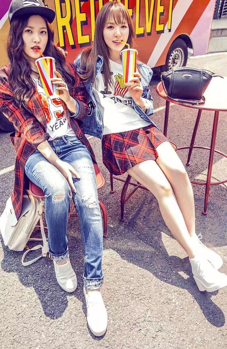 Red Velvet Yeri & Wendy Kpop Fashion for Metersbonwe 2015 와우 난 이 사진 맘에 든다 ㅋㅋㅋㅋㅋ .