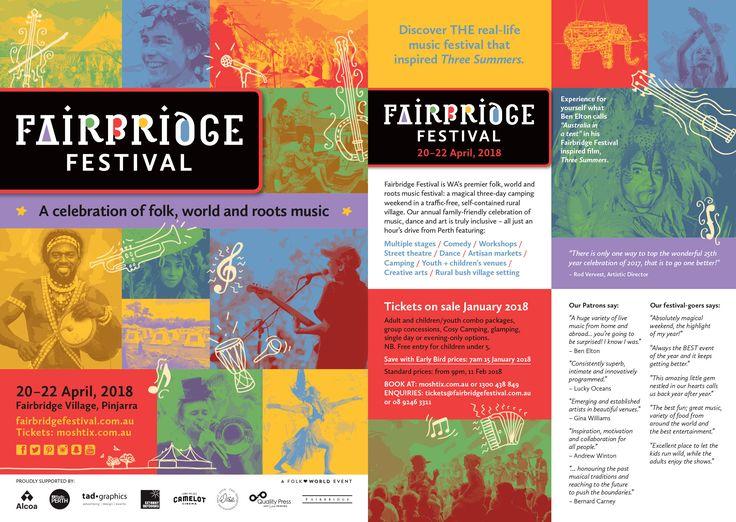 2018 Fairbridge Festival flyer