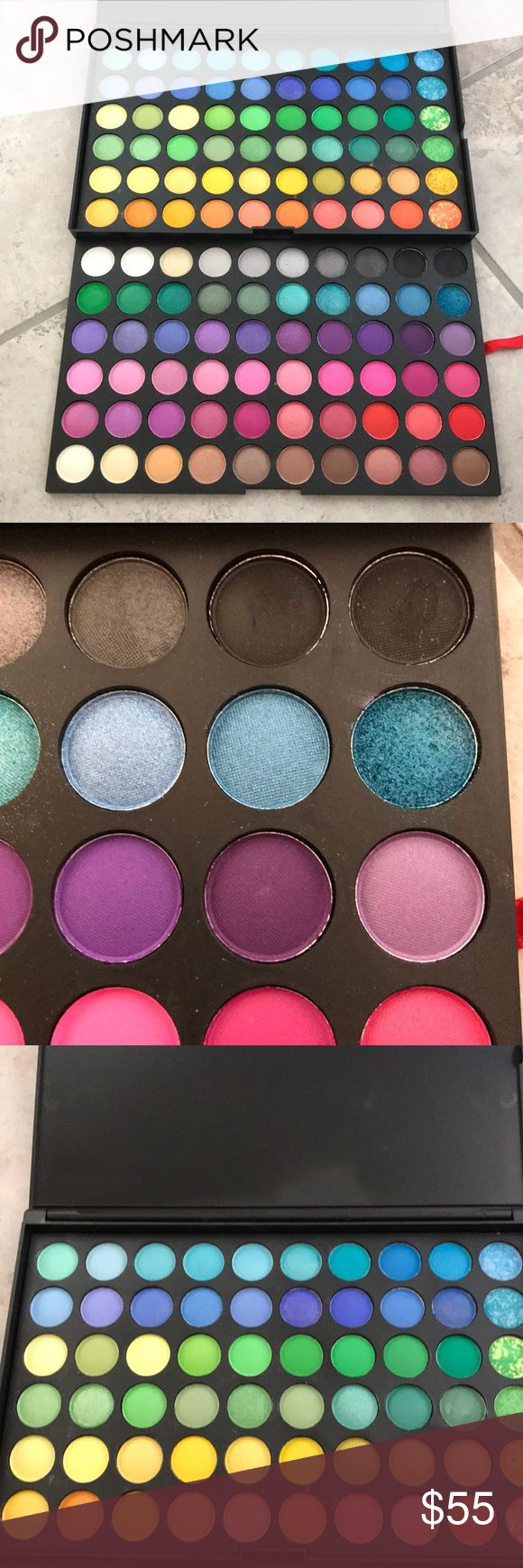Mac Professional Eyeshadow Palette Mac Professional Eyeshadow Palette  With matte and shimmer  The closeup of one of the shimmer blue has been touched for someone to see the color MAC Cosmetics Makeup Eyeshadow