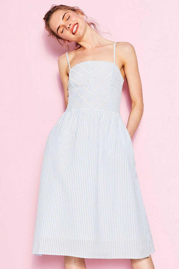 Vestido de sirsaca, 100% algodón