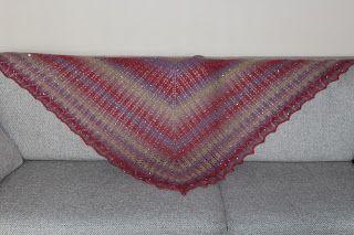 My tulip shawl.