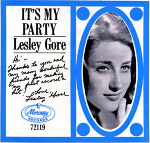 June 1, 1963 - Lesley Gore started a two week run at No.1 on the US singles chart with the Quincy Jones (then a staff producer for Mercury Records) produced 'It's My Party', a No.9 hit in the UK. Dave Stewart and Barbara Gaskin scored a UK No.1 in 1981 with their version of the song.