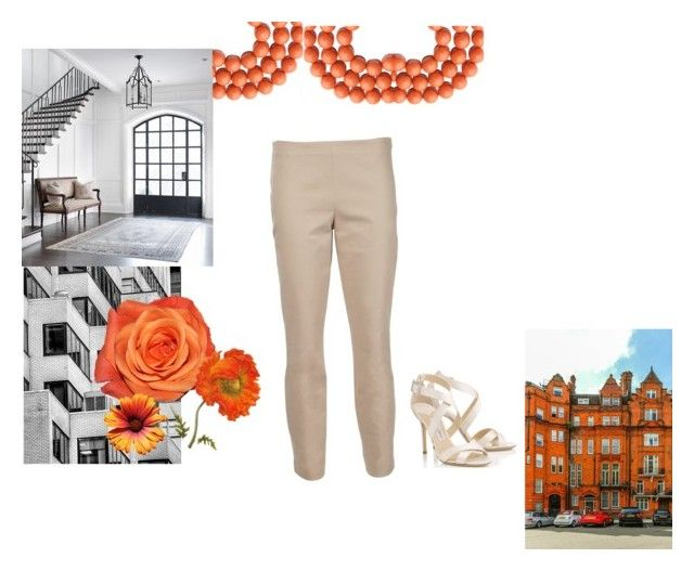 """orange power"" by ivanaputri on Polyvore featuring The Row and Jimmy Choo"