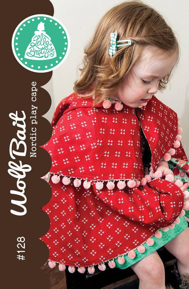 Wolf Bait Nordic Play Cape - Little Red Riding Hood Coat - Lella Boutique - LB128