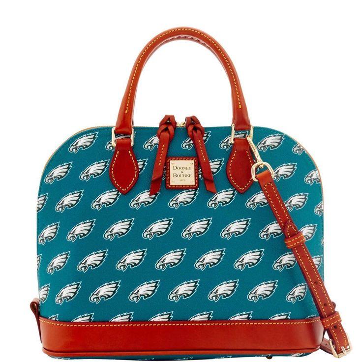 Dooney and Bourke Philadelphia Eagles Zip Zip Satchel Handbag - The Skybox Store