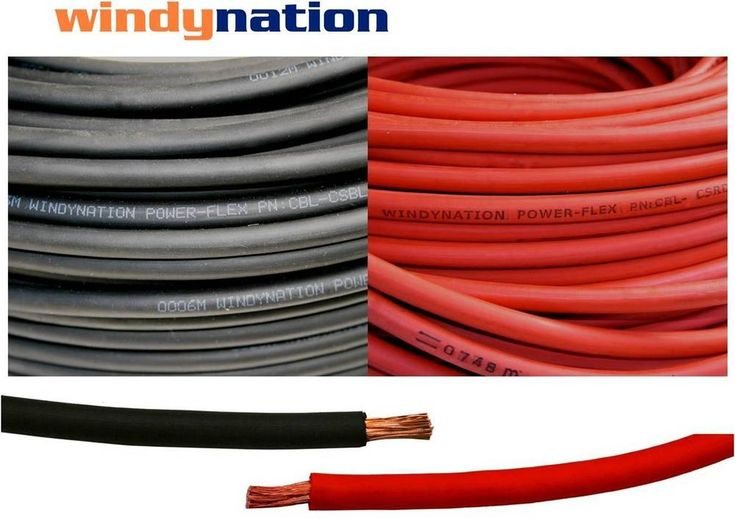 Welding Cable Red Black 6 AWG GAUGE COPPER WIRE BATTERY SOLAR LEADS  #WindyNationInc