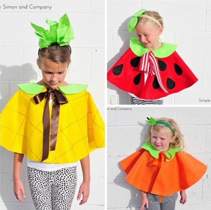 ideas de disfraz de frutas niños