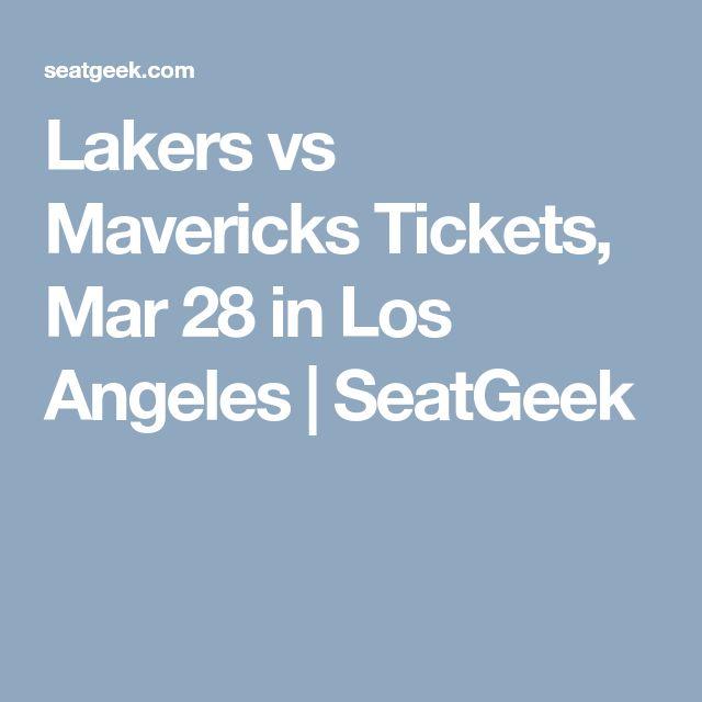 Lakers Vs Mavericks Tickets Mar 28 In Los Angeles