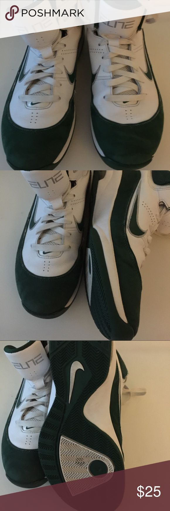 ‼️Closet Clearance ‼️ Nike Elite Sneakers Nike Elite High Top Athletic Tennis Shoes 454139-107 Green & White in excellent preowned condition. Please take a look at pictures before making a purchase. Size:8  Color:Green & white. Nike Shoes Sneakers