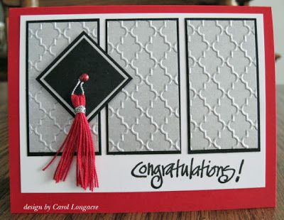 Our Little Inspirations: Graduation Time  Could do this without special graduation stamps... cool