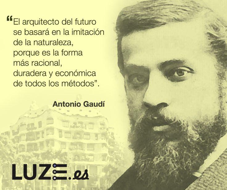 """""""El arquitecto del futuro se basará en la imitación de la naturaleza, porque es la forma más racional, duradera y económica de todos los métodos"""" Antonio Gaudí #architecture #arquitectura"""