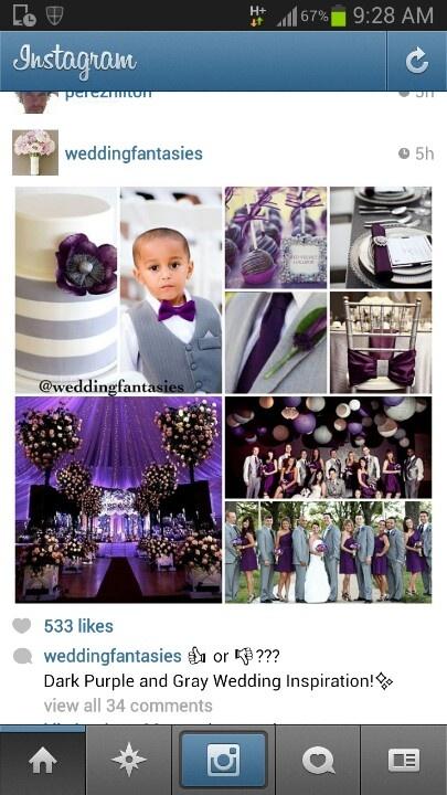 @denise grant James I love this cake!!! Purple wedding ideas