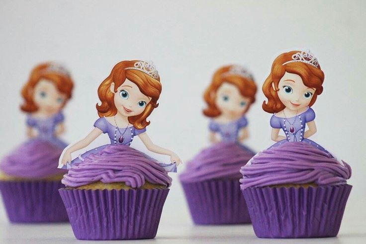 Princess sofia the firts cupcakes
