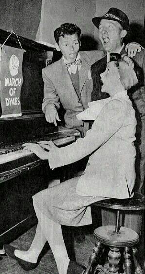 Bing Crosby with Frank Sinatra and Judy Garland