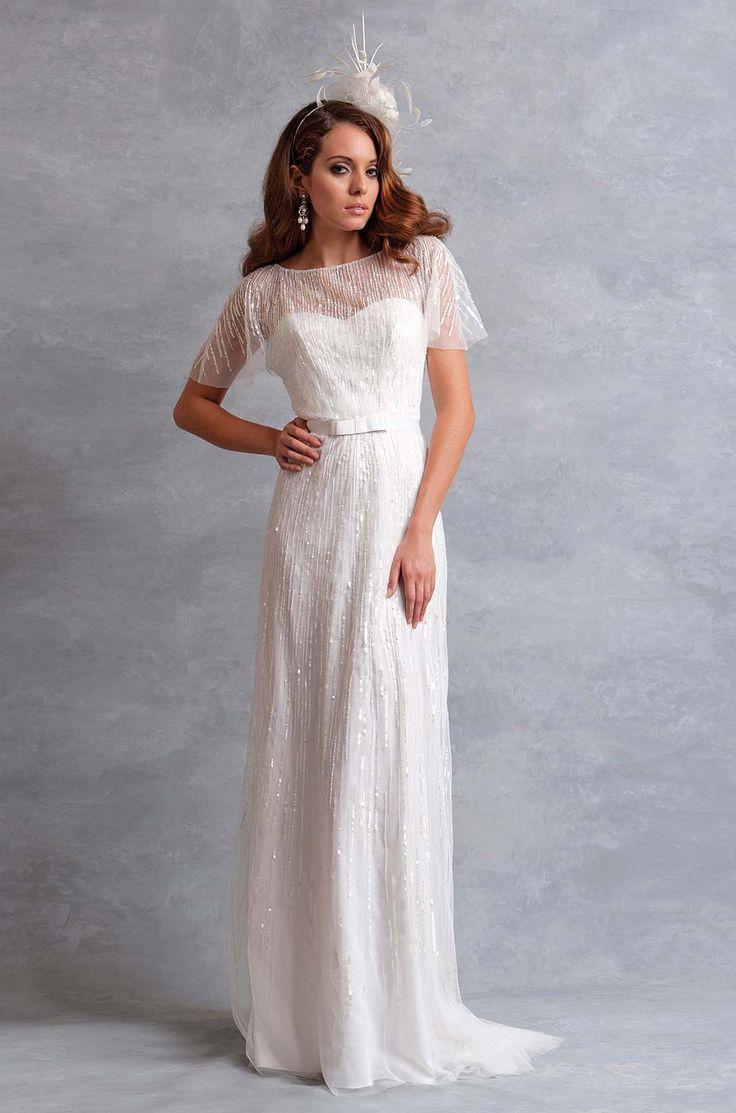 13 best wedding dresses eliza jane howell images on pinterest eliza jane howell bateau sheath wedding dress with natural waist in shimmer organza ombrellifo Gallery