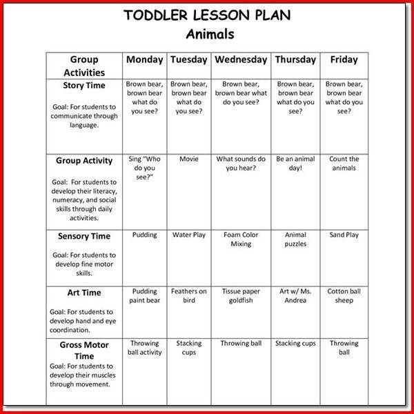 Preschool Creative Curriculum Lesson Plan Template Creative