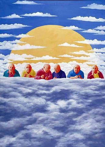 2003 HOG HEAVEN, Fang Lijun (方力钧; b1963, Handan, Hebei Province, China)