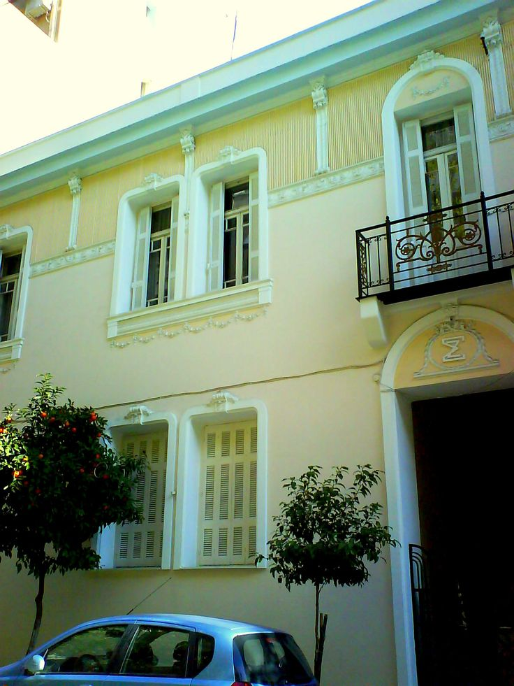Late neoclassic, bourgeois house, Kypseli, Athens, Greece