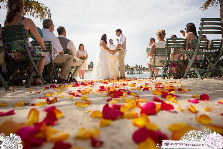 Beach wedding ceremony - Disney Cruise Line Castaway Cay Wedding - Krystal & Ben by Root Photography