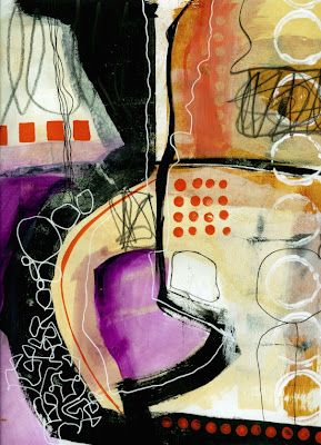 Scribble Painting by Jane Davies - love her abstract style! like all the black in this one#Repin By:Pinterest++ for iPad#