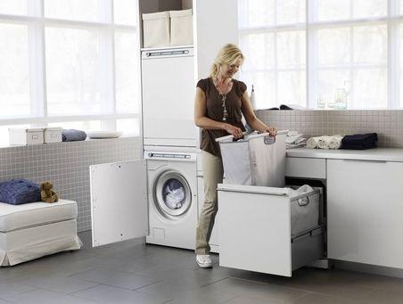Vaskerom: uttrekkskuffer