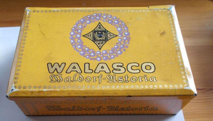 Alte Zigarettendose WaldorfAstoria Walasco 50 Zigaretten in Sammeln  Seltenes Reklame